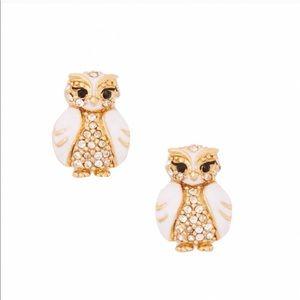 NWT Kate Spade Shine Bright Owl Earrings NEW
